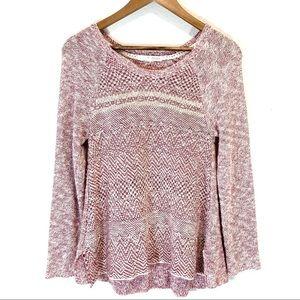 Rewind Washed Red/Purple Sweater